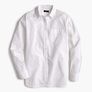 """J. Crew """"Boy Fit"""" White Button Down Shirt"""